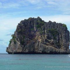 Ko Haa Neua Island makes an excellent back drop for Phuket holiday photos