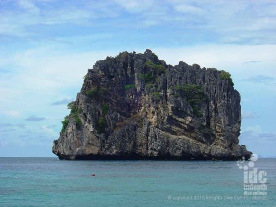 Ko Haa Yai Island makes an excellent back drop for Phuket holiday photos