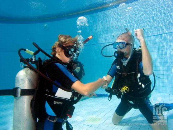 You can try scuba diving in a pool or the sea with Indepth on Phuket