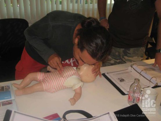 Child & Baby CPR / First Aid : Look listen feel for breathing with baby s and adults