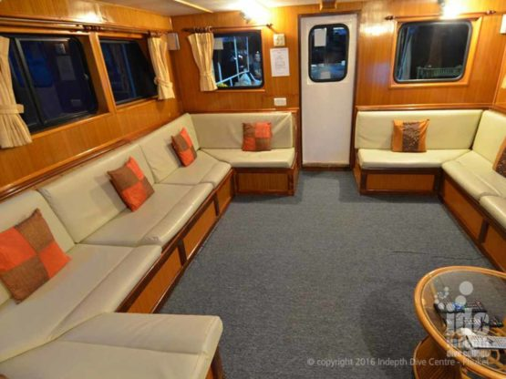 Very comfortble lounge on MV Andaman Tritan Liveaboard