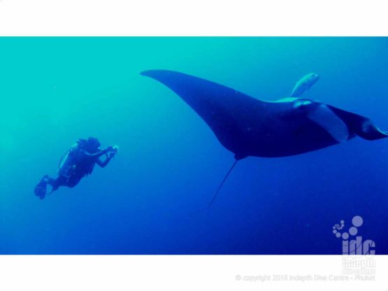 Mantsa and a happy diver on a photo course in The Similans