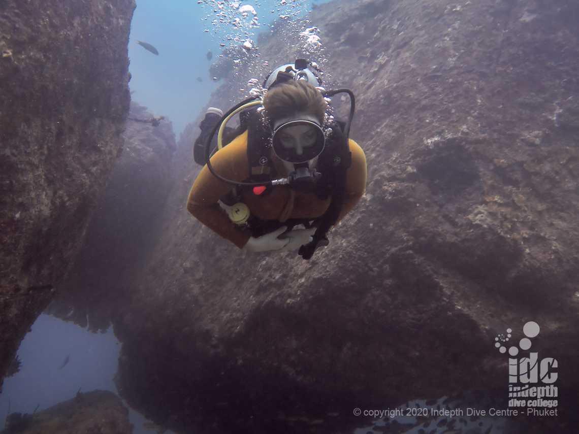 Maritas Rock and Marina Bay are the best Phuket Dive Sites to see Manta Rays at Racha Noi
