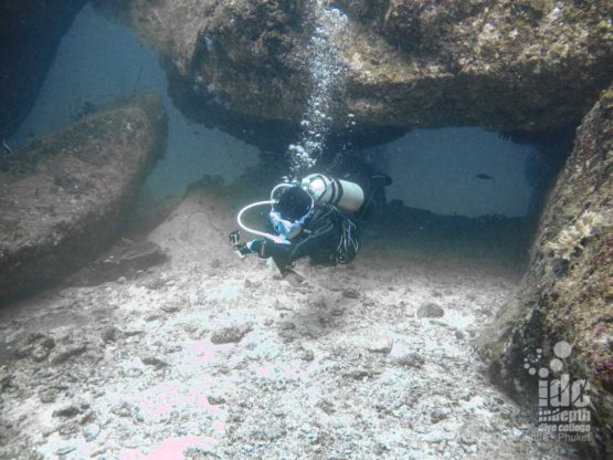 Swimthrouch at Marita's Rock - Racha Noi Diving