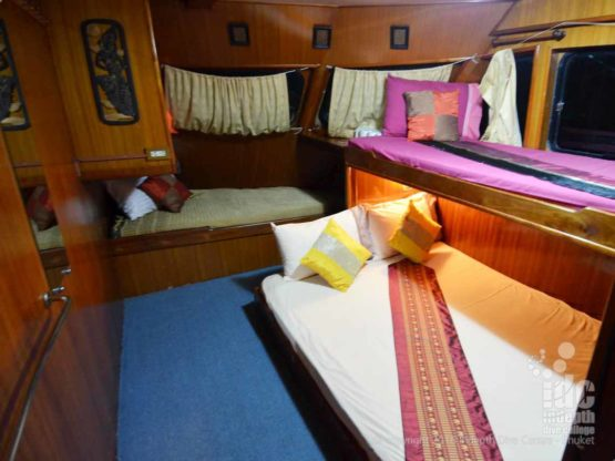 The Master Cabin on MV Andaman Tritan Liveaboard