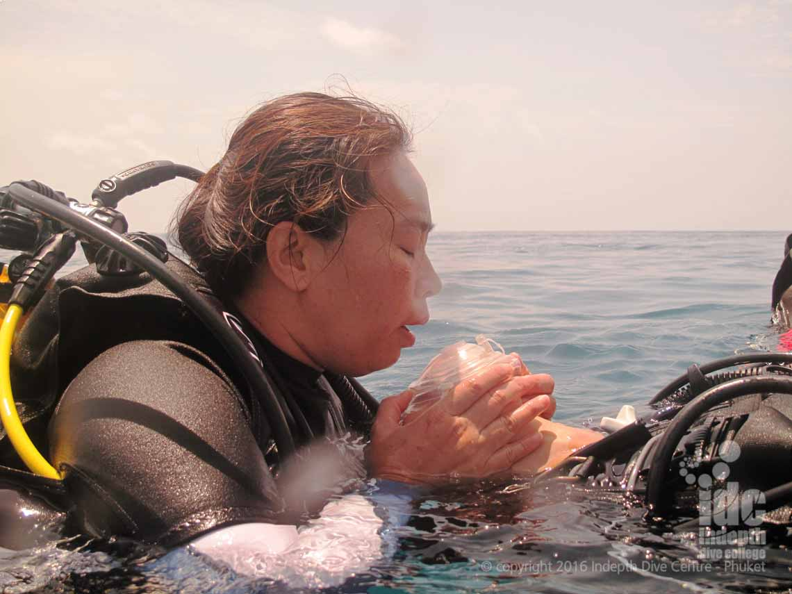 One of the skills you will learn on your PADI Rescue Diver is Mouth to Pocket Mask resuscitation