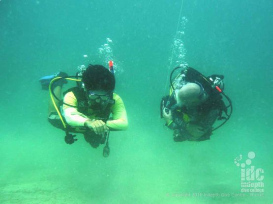 Underwater Navigation can be a lot of fun with Indepth during the PADI Adventure Diver Course
