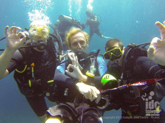 PADI Nitrox Divers having fun with Indepth on Phuket