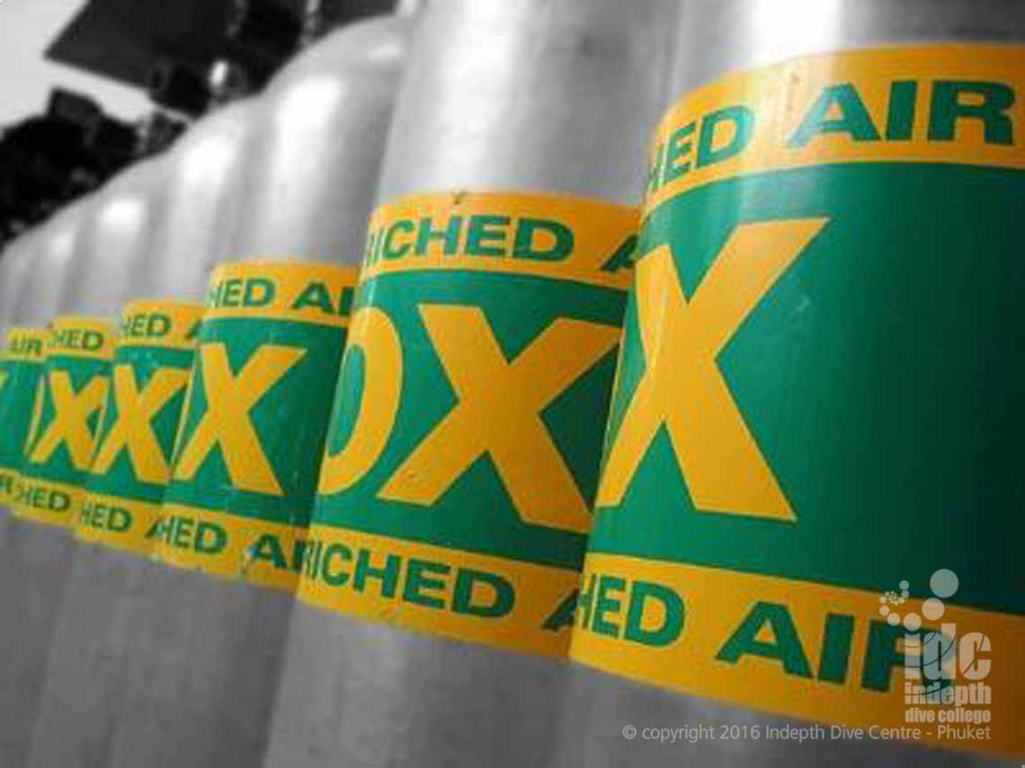 All Nitrox tanks should be clearly labelled Nitrox or Enriched Air Nitrox