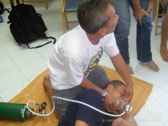 The Oxygen Provider course is included in our PADI IDC course on Phuket