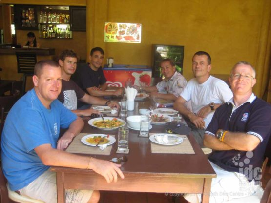 On your OWSI program every Scuba Instructor gets a great Thai lunch