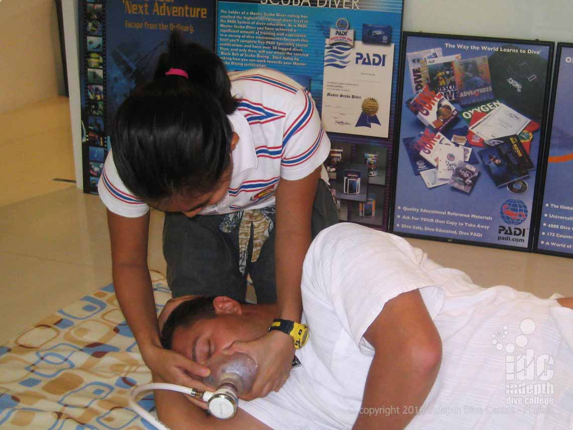 We include the DAN Oxygen Course in all our PADI Instructor Courses