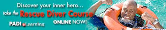 You can start your PADI Rescue Diver Course right this minute by signing up for PADI Rescue Diver eLearning. Just click on this button and the follow the prompts.