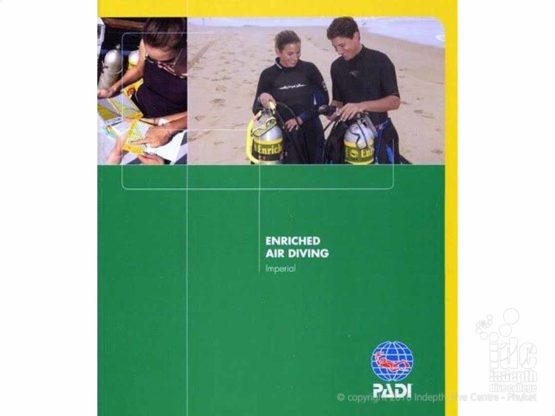 The PADI Nitrox Enriched Air Diver Course student manual