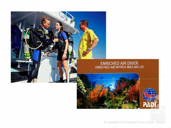 Become the proud owner of a PADI Nitrox Diver Certification Card