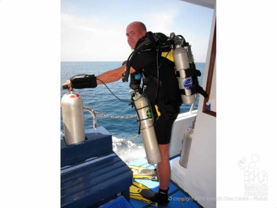 PADI Rebreather Instructor Trainer Chris Owen teaching a PADI Rebreather Instructor Course