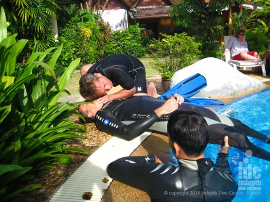 PADI Rescue Diver Course skills are taught on the Indepth OWSI Scuba Insttructor Phuket