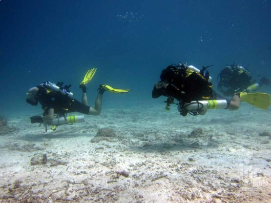 Search Rescue Course students diving on their Poseidon Rebreathers with Indepth Phuket