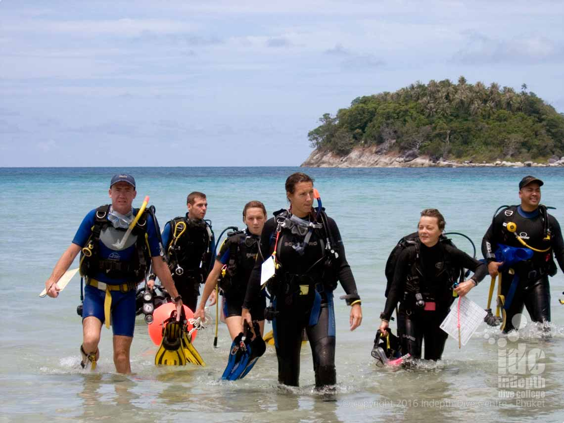 Diving Kata Beach House Reef with Indepth Dive Centre is a great option for those with only 1/2 a day to dive on Phuket Thailand