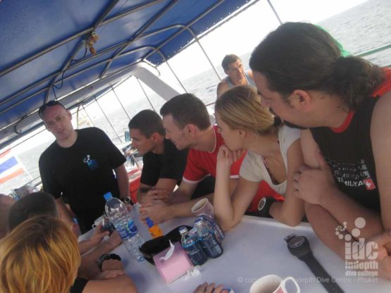 Typical Dive Boat Briefing from an Indepth Instructor running a PADI Scuba Refresher