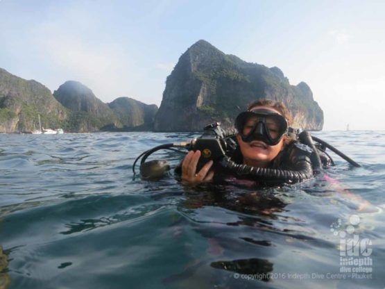 Poseidon Rebreather Diver enjoying a Phuket Scuba Diving Trip with Indepth Dive Centre
