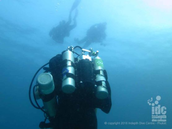 Phuket Scuba Diving on a Poseidon Rebreather with Chris Owen and Indepth Dive Centre PADI 5* IDC & TecRec Centre