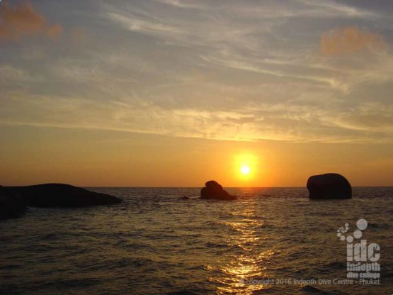 Nothing like enjoying a Phuket sunset after a good days diving on the PADI Master Scuba Diver Trainer program