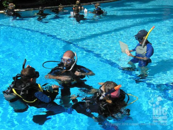 Pool fun on the Indepth Assistant Instructor Course on Phuket