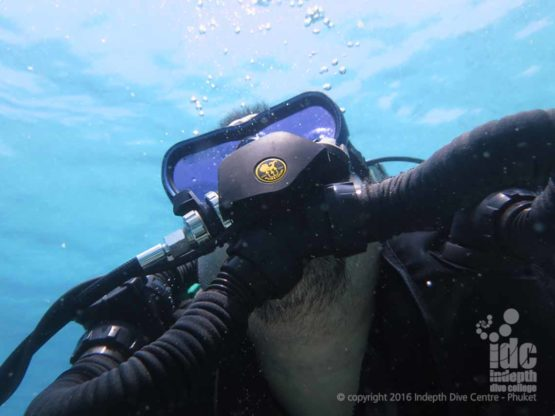 Poseidon Rebreather Diver at Ko Tachai Pinnacle with Indepth Dive Centre