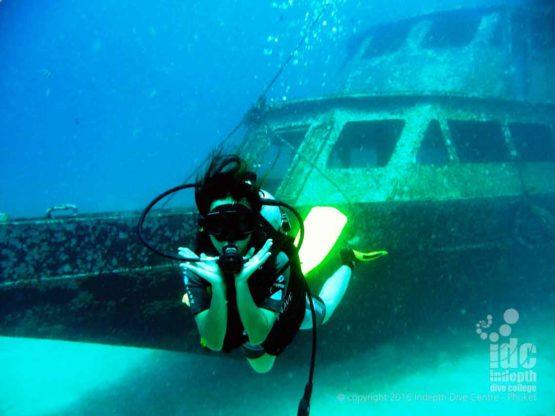 PADI Wreck Advanced Open Water Dive at Bay 1 Racha Yai Phuket