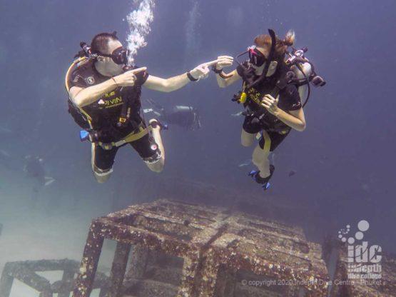 Happy divers at Phuket Racha Yai Bay 1