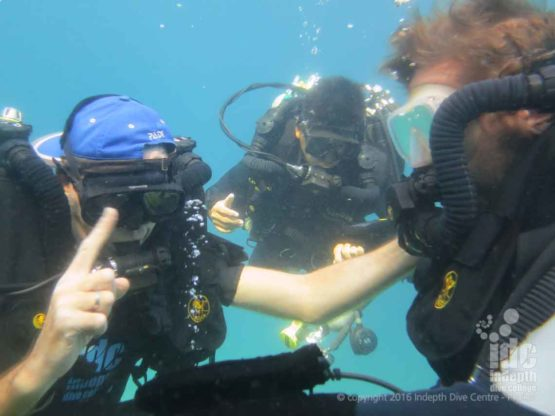 PADI Rebreather Course Skills Practice at Racha Yai Bay 3 Phuket