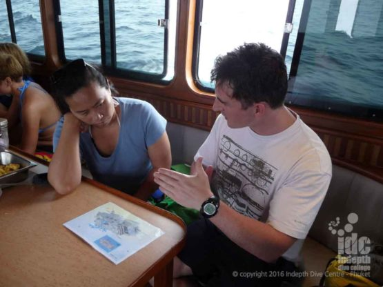 Rebreather Phuket Wreck Diving Dive Briefing on The King Crusier