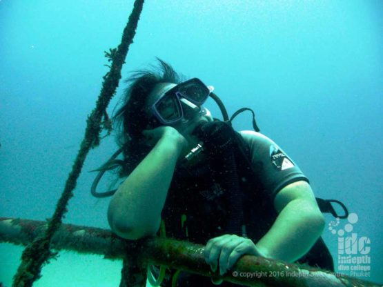 Relaxing on a Phuket scuba dive