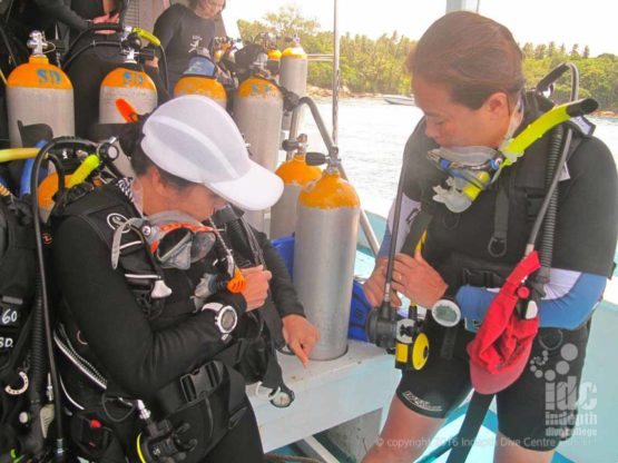 Responsible diver behavior includes a Buddy Check before every dive