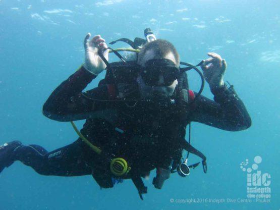 Scuba Diver at Western Rocky on a Burma Liveaboard Safari