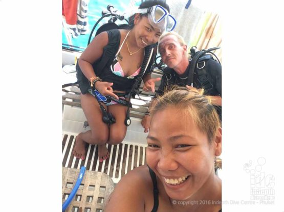 Scuba diving fun on Phuket with Indepth Dive Centre