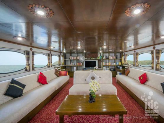 Awesome upstairs lounge area on Pawara Liveaboard