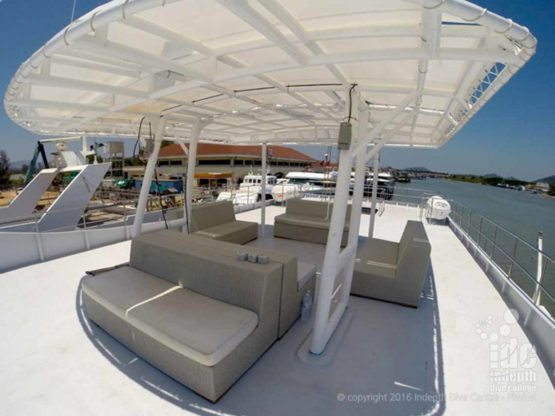 Awesome sundeck to chill out on aboard DiveRACE Liveaboard