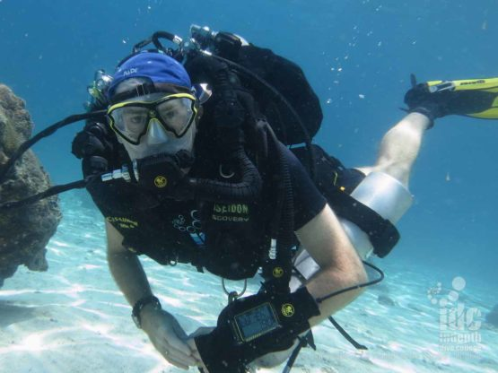 A Rebreather Diver at West of Eden In the Similans with Indepth Dive Centre
