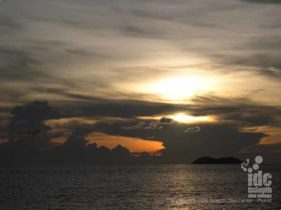 Fantastic sunset in The Similans with Indepth Dive Centre