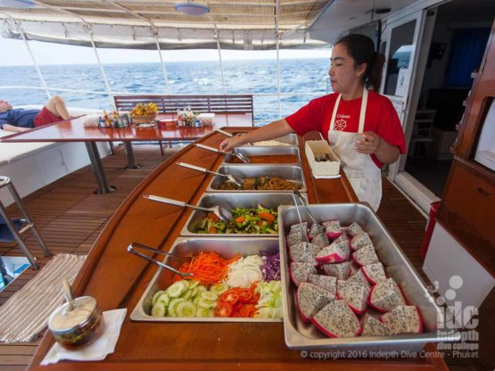 Awesome Thai Buffet on Giamani Liveaboard Phuket Thailand