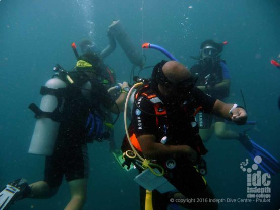 PADI Specialty Instructor Courses and PADI Master Scuba Diver Trainer on Phuket with Indepth