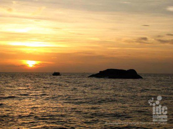 A superb sunset over the Similan Islands Phuket