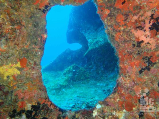 The Famous WINDOW at Elephant Head Rock in The Similans