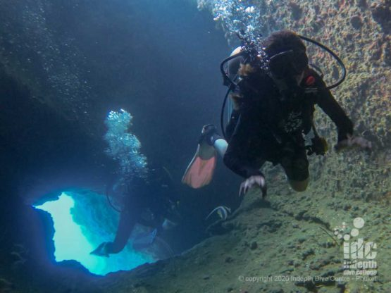 Shark Cave at Three Islets dive site - Burma Liveaboard Diving