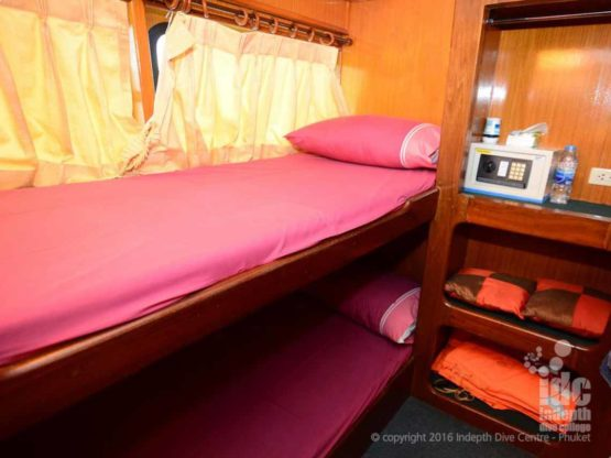 Andaman Tritan Liveaboard bunk bed twin share cabin