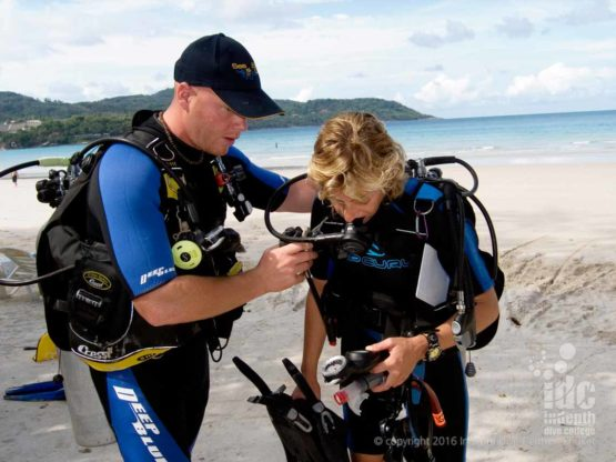 Try scuba diving on Phuket off Kata or Ya Nui beach