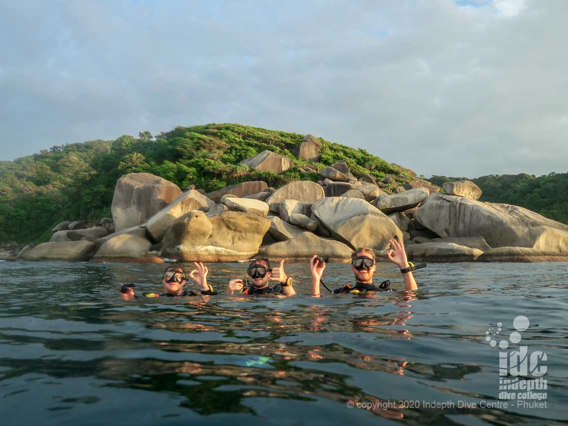 Turtle Rock is a great Similans Dive Site for beginner divers and for Night Dives