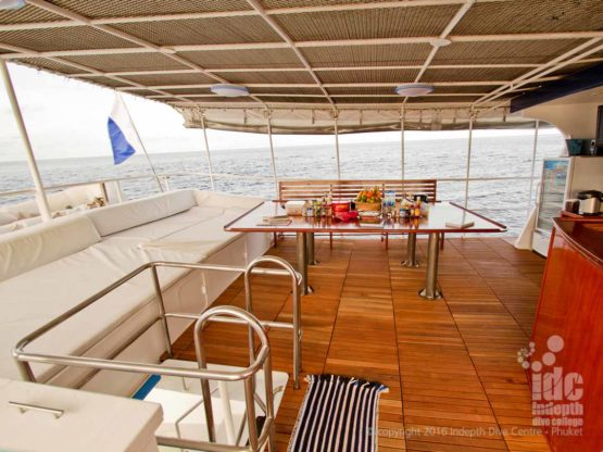 Fantastic upper deck on MV Giamani Liveaboard
